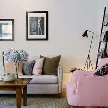 Фотография: Гостиная в стиле Кантри, Декор интерьера, Мебель и свет, Советы, Белый, как оформить пустой угол, пустой угол в квартире – фото на InMyRoom.ru