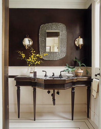 Фотография: Ванная в стиле Восточный, Освещение, Декор, Советы, Ремонт на практике – фото на InMyRoom.ru