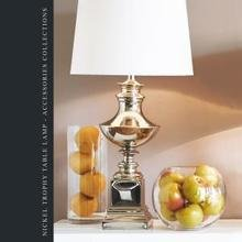 Лампа Nickel trophy table lamp