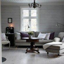 Фотография: Гостиная в стиле Кантри, Декор интерьера, Дизайн интерьера, Цвет в интерьере, Серый – фото на InMyRoom.ru