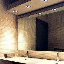 Фотография: Ванная в стиле Минимализм, Интерьер комнат, Светильник, Зеркало, Подсветка – фото на InMyRoom.ru