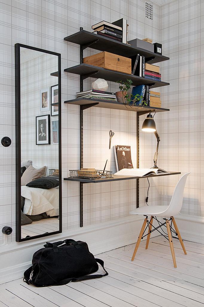 Фотография: Офис в стиле Скандинавский, Малогабаритная квартира, Квартира, Швеция, Дома и квартиры – фото на InMyRoom.ru