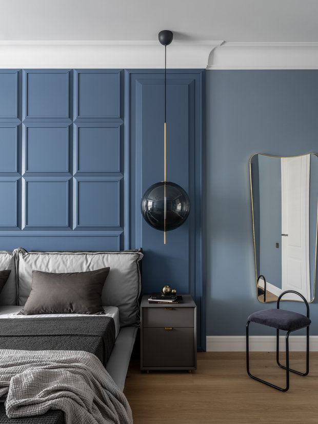 Фотография: Спальня в стиле Современный, Квартира, Проект недели, Москва, 3 комнаты, Более 90 метров, Малика Нурлан – фото на INMYROOM