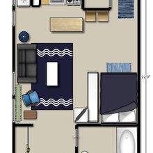 Фотография: Планировки в стиле , Малогабаритная квартира, Квартира, Дома и квартиры, IKEA – фото на InMyRoom.ru