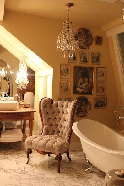 Фотография: Ванная в стиле Классический, Декор интерьера, Интерьер комнат, Викторианский – фото на InMyRoom.ru