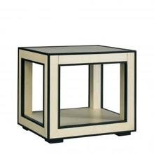 Столик OPEN CUBE END TABLE - VELLUM FINISH