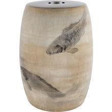 керамический столик-табурет Carp в виде барабана