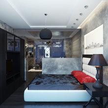 Фото из портфолио Необычная квартира с черным цветом – фотографии дизайна интерьеров на INMYROOM