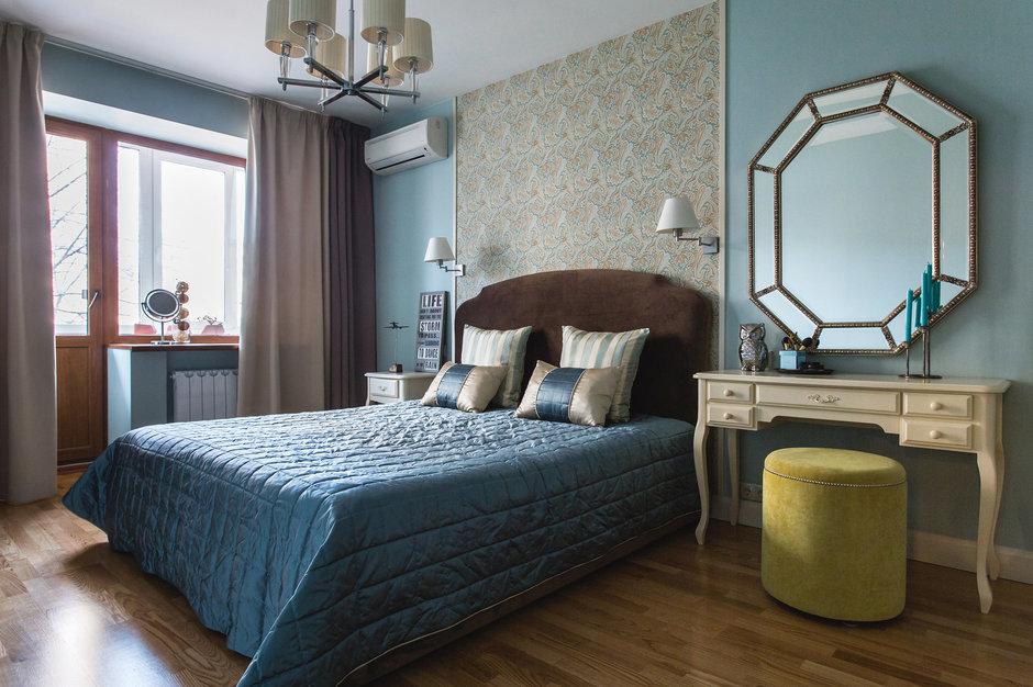Фотография: Спальня в стиле Прованс и Кантри, Классический, Современный, Квартира, Проект недели, Jazzberry – фото на InMyRoom.ru