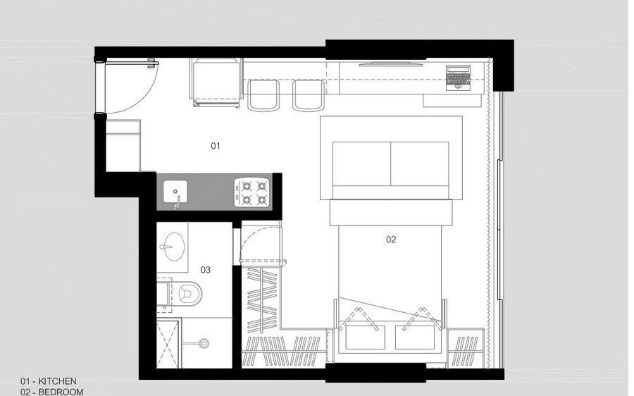 Фотография: Планировки в стиле , Малогабаритная квартира, Квартира, Дома и квартиры – фото на InMyRoom.ru