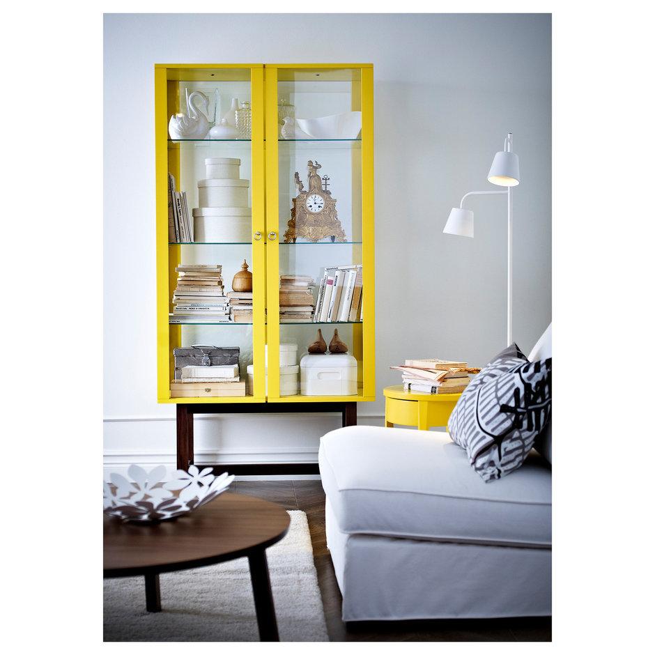 Фотография: Гостиная в стиле Скандинавский, Современный, Декор интерьера, Декор дома, Цвет в интерьере, IKEA, Зеленый, Желтый – фото на InMyRoom.ru