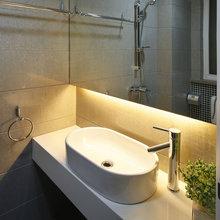 Фотография: Ванная в стиле Современный, Интерьер комнат, Мебель и свет, Советы – фото на InMyRoom.ru