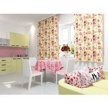 Кухонная скатерть: Розовое поле