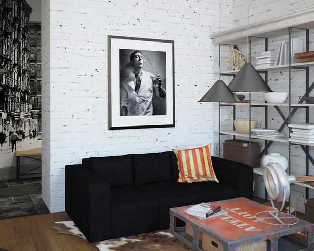 Фотография: Гостиная в стиле Лофт, Квартира, Дома и квартиры, IKEA, Проект недели – фото на InMyRoom.ru
