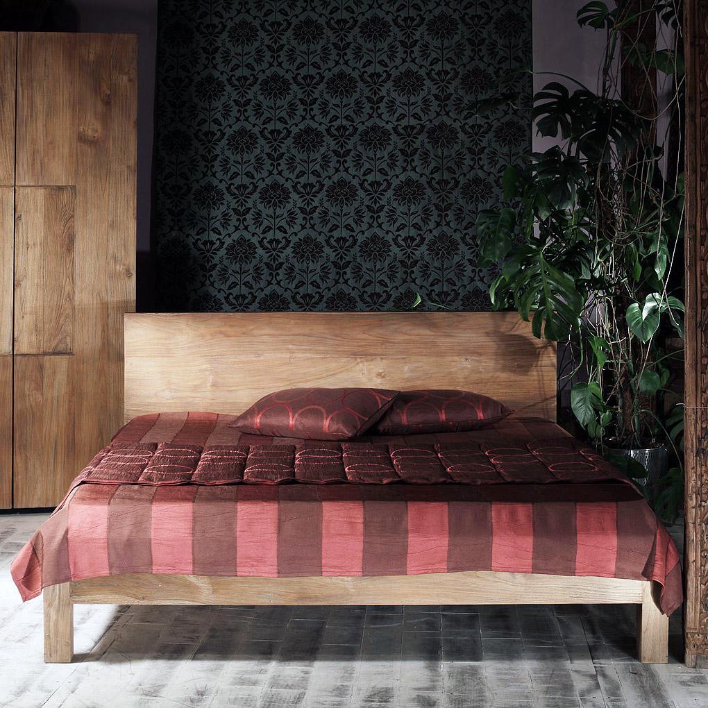 Купить Кровать Oldjava Priuli Queen из массива тика 160х200 см, inmyroom, Индонезия
