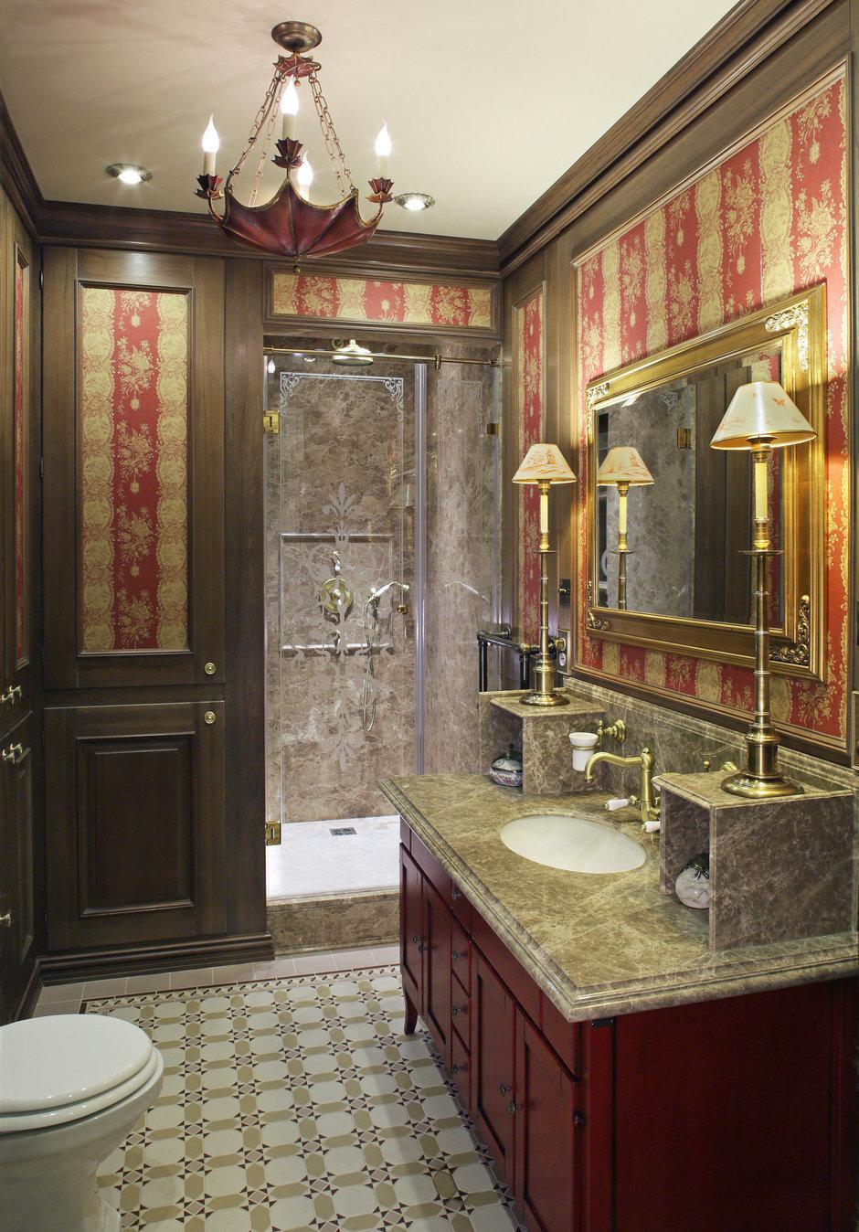 Фотография: Ванная в стиле Прованс и Кантри, Классический, Квартира, Дома и квартиры, Проект недели – фото на InMyRoom.ru