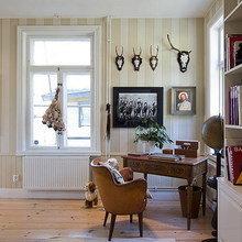 Фотография: Кабинет в стиле Скандинавский, Дом, Швеция, Цвет в интерьере, Дома и квартиры, Белый – фото на InMyRoom.ru