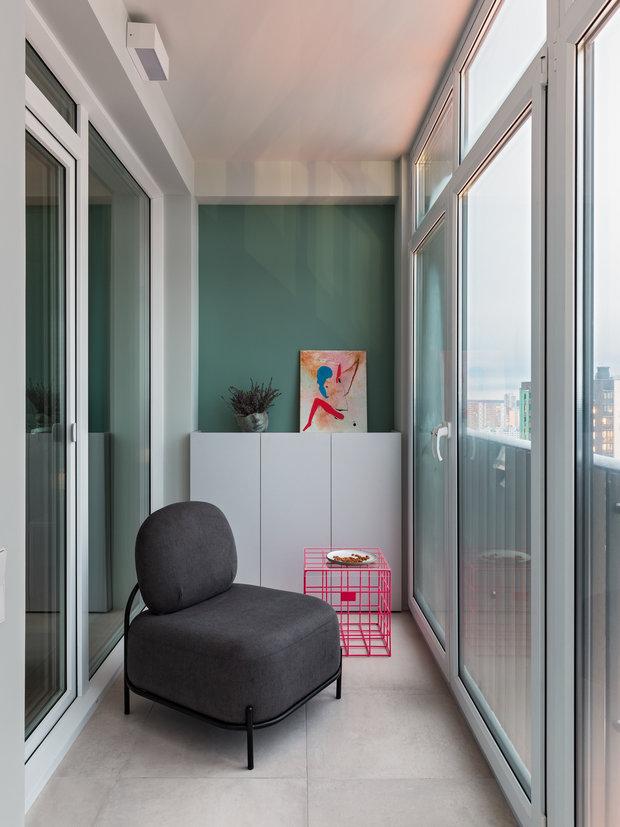 Фотография: Балкон в стиле Современный, Квартира, Проект недели, Минск, 3 комнаты, 60-90 метров, Юлия Мурыгина – фото на INMYROOM