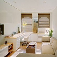 Фотография: Кабинет в стиле Эко, Декор интерьера, Малогабаритная квартира, Квартира, Цвет в интерьере, Дома и квартиры, Белый – фото на InMyRoom.ru