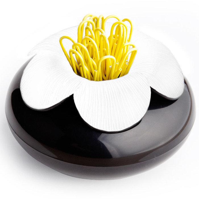 Шкатулка для мелочей blossom черная/белая