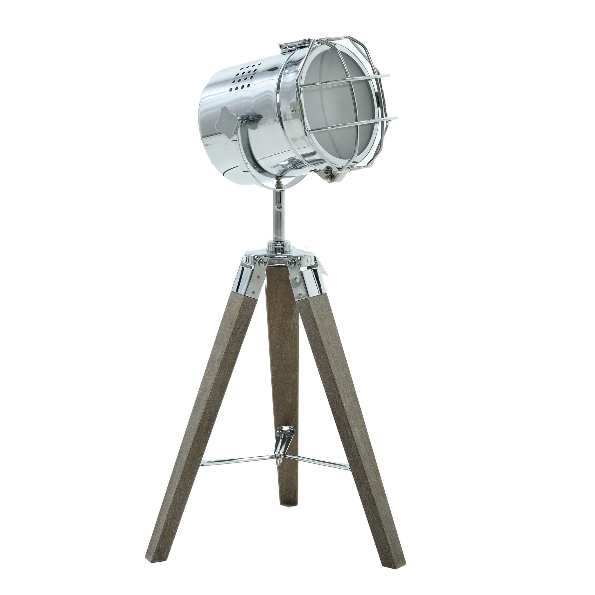 Купить Настольная лампа из металла и дерева, inmyroom, Греция