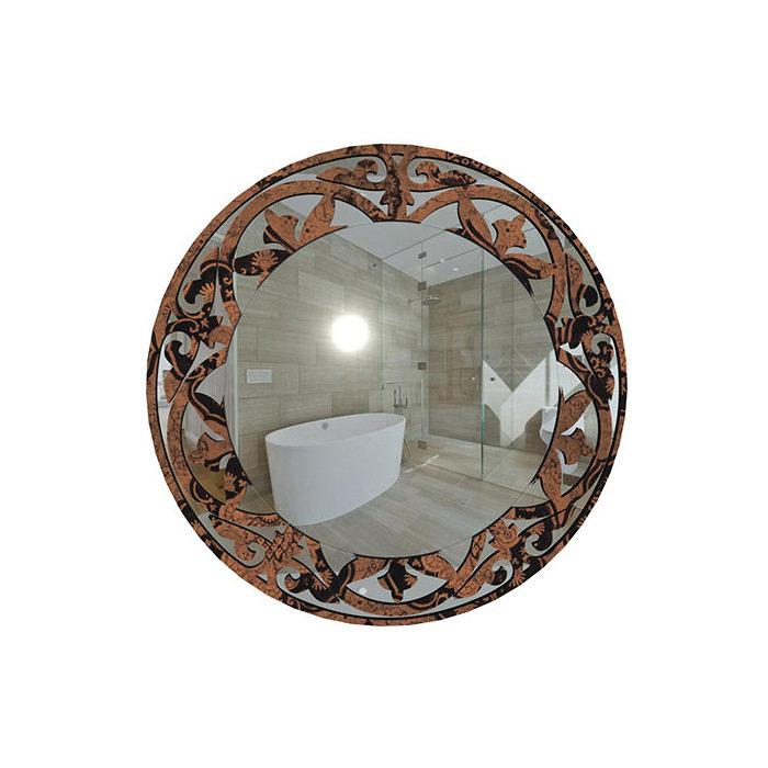 """Зеркало с черно-коричневым рисунком """"Мраморное"""""""