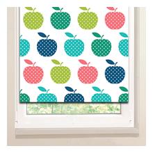 Рулонные шторы: Яблочки в горошек