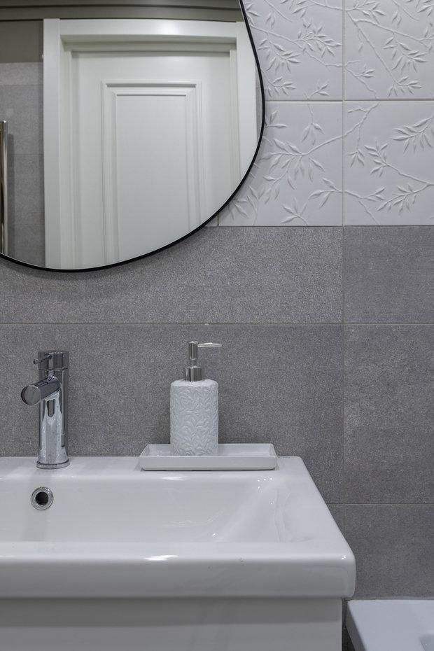 Фотография: Ванная в стиле Современный, Квартира, Проект недели, Москва, 2 комнаты, 40-60 метров, Анна Моджаро – фото на INMYROOM
