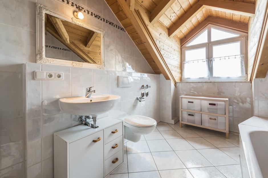 Фотография: Ванная в стиле Лофт, Дом, Дома и квартиры, Мансарда – фото на InMyRoom.ru