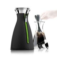 Кофейник cafesolo ™ в неопреновом чехле 1 л черный чехол зеленая молния / стекло / сталь