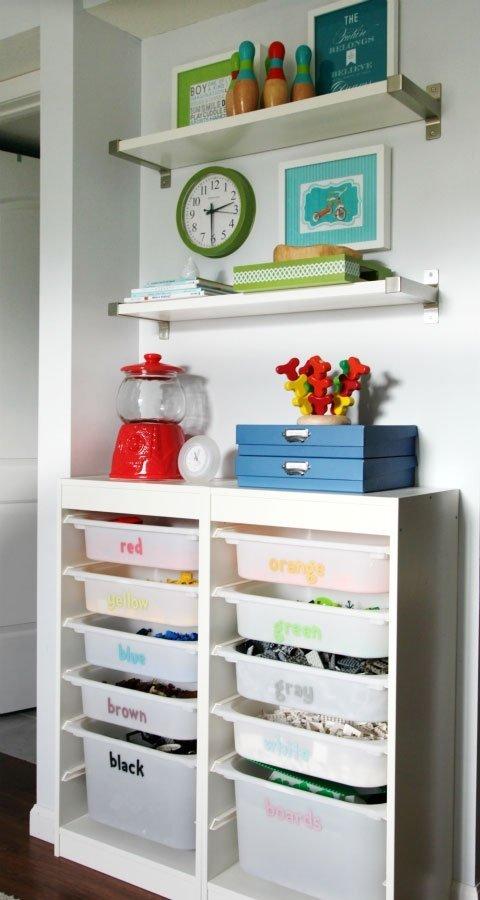 Фотография: Декор в стиле Современный, Детская, Интерьер комнат, Системы хранения – фото на InMyRoom.ru