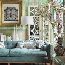 Фотография: Гостиная в стиле Кантри, Декор интерьера, Мебель и свет, Цвет в интерьере, Ковер – фото на InMyRoom.ru