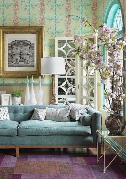 Фотография: Гостиная в стиле Прованс и Кантри, Декор интерьера, Мебель и свет, Цвет в интерьере, Ковер – фото на InMyRoom.ru