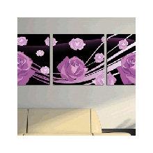 Декоративная картина: Пурпурные розы