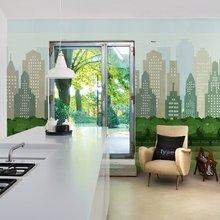 Фотография: Кухня и столовая в стиле Современный, Карта покупок, Индустрия, Фотообои – фото на InMyRoom.ru