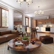 Фото из портфолио Проект двухкомнатной квартиры в стиле ар-деко – фотографии дизайна интерьеров на INMYROOM