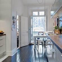 Фотография: Кухня и столовая в стиле Скандинавский, Квартира, Швеция, Мебель и свет, Дома и квартиры, Гетеборг – фото на InMyRoom.ru
