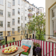 Фотография: Балкон в стиле Скандинавский, Малогабаритная квартира, Квартира, Цвет в интерьере, Дома и квартиры, Белый – фото на InMyRoom.ru