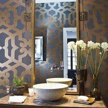 Фотография: Ванная в стиле Восточный, Декор интерьера, DIY, Дом, Декор дома, Цвет в интерьере, Обои – фото на InMyRoom.ru