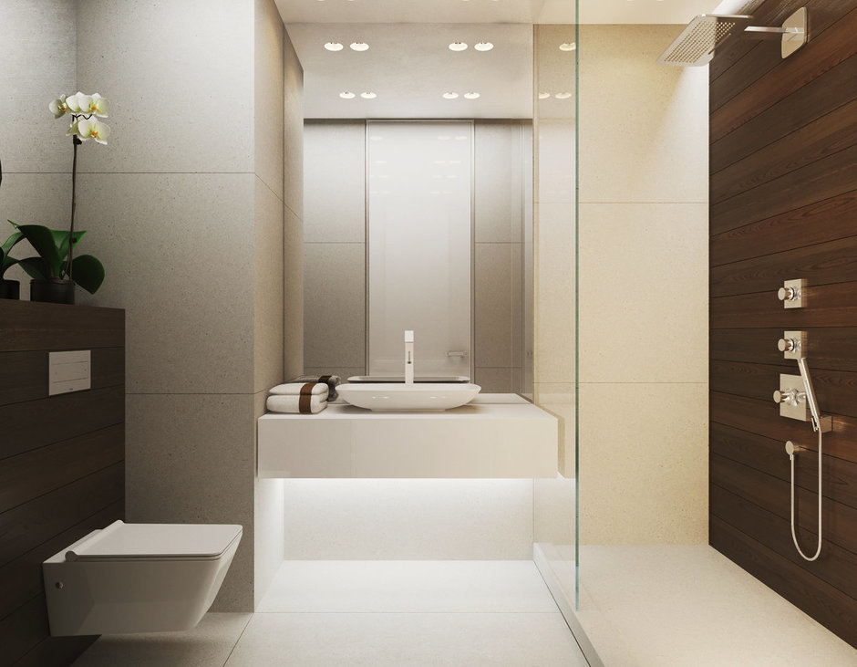 Фотография: Ванная в стиле Восточный, Малогабаритная квартира, Квартира, Дома и квартиры, Минимализм, Переделка – фото на InMyRoom.ru