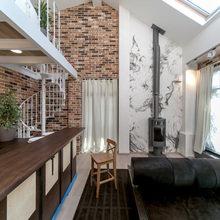 Фотография: Гостиная в стиле Кантри, Лофт, Современный, Интерьер комнат, Дачный ответ – фото на InMyRoom.ru