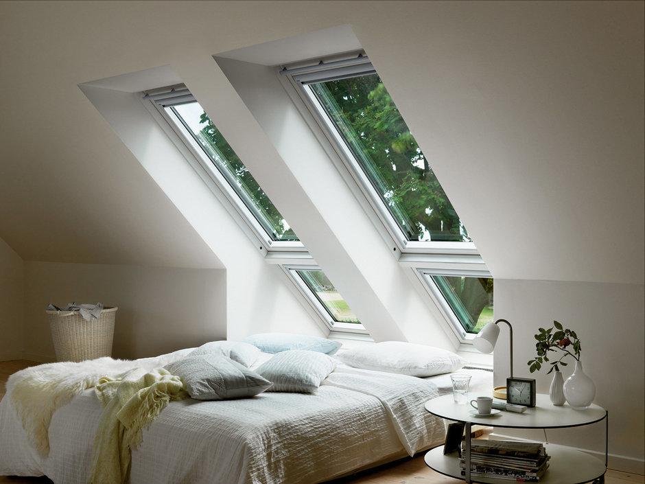 Фотография: Спальня в стиле Современный, Дом, Дома и квартиры, Мансарда – фото на InMyRoom.ru