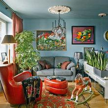 Фотография: Гостиная в стиле Эклектика, Декор интерьера, Малогабаритная квартира, Квартира, Дома и квартиры – фото на InMyRoom.ru
