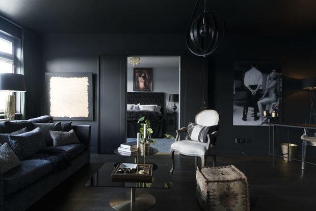 Фотография: Гостиная в стиле Современный, Декор интерьера, Квартира, Швеция, Черный, 2 комнаты – фото на InMyRoom.ru