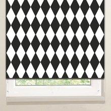 Рулонные шторы: Черные ромбы