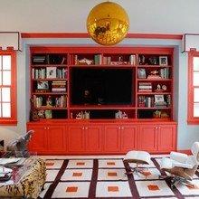Фотография: Гостиная в стиле Эклектика, Декор интерьера, Декор дома, Шторы, Окна – фото на InMyRoom.ru