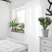 Фотография: Спальня в стиле Скандинавский, Малогабаритная квартира, Квартира, Проект недели, новостройка, Магнитогорск, кухня с островом, вагонка на стенах, Алексей Гуркин – фото на InMyRoom.ru