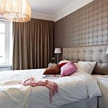 Фотография: Спальня в стиле Современный, Скандинавский, Квартира, Швеция, Цвет в интерьере, Дома и квартиры, Белый – фото на InMyRoom.ru