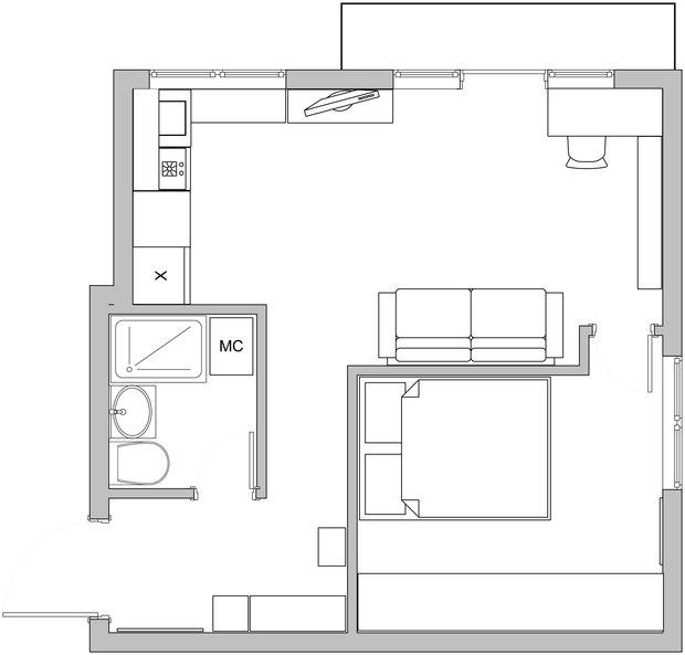 Фотография: Планировки в стиле , Классический, Малогабаритная квартира, Квартира, Декор, Дома и квартиры, IKEA, Проект недели – фото на InMyRoom.ru