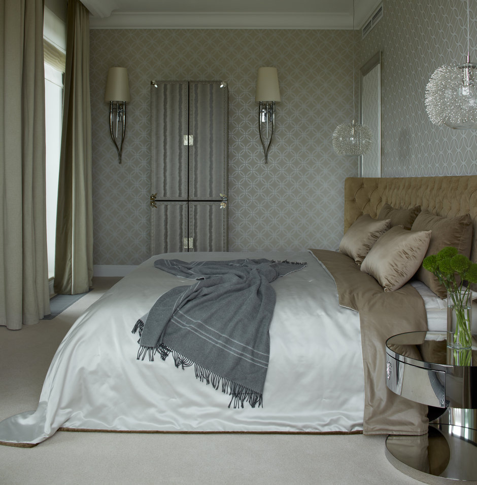 Фотография: Спальня в стиле Классический, Современный, Пентхаус, Минск, Монолитный дом, 2 комнаты, Более 90 метров, #эксклюзивныепроекты, «Бахарев и партнеры» – фото на InMyRoom.ru